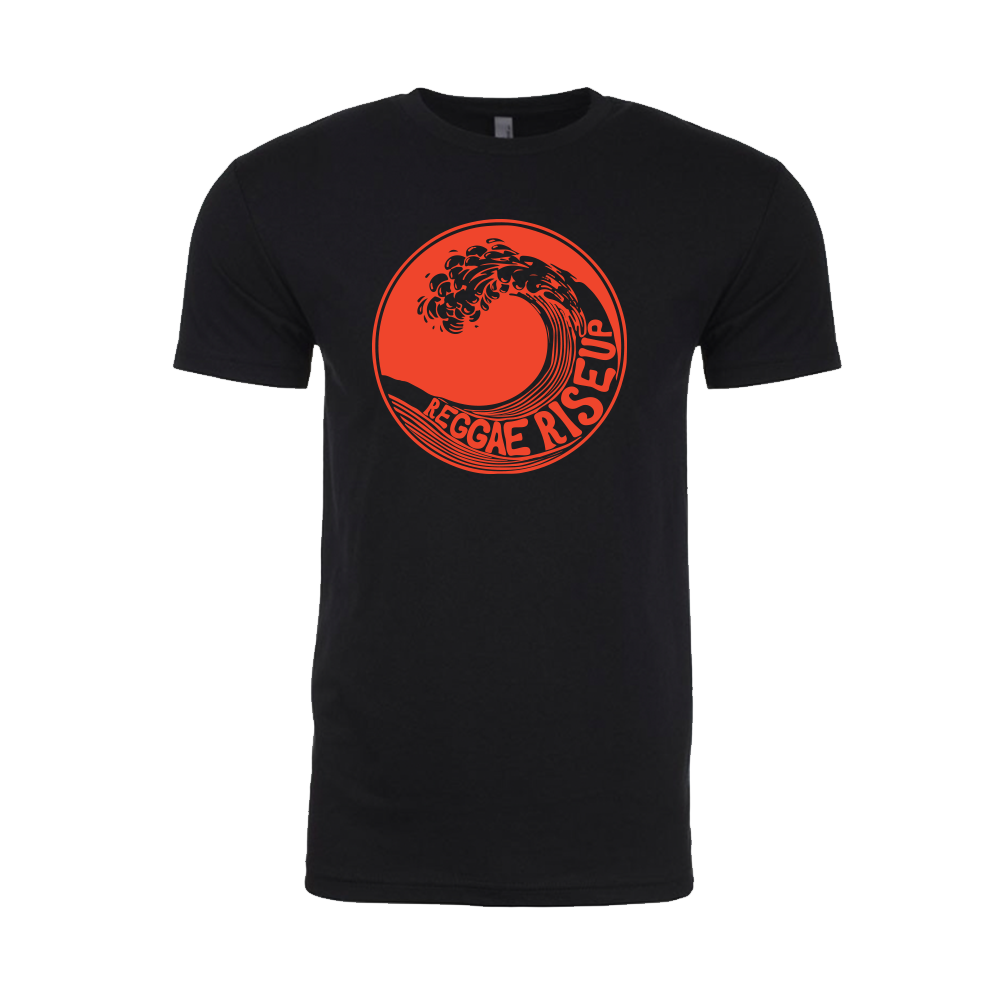 Mens Red Wave Black T-Shirt