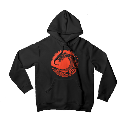 RRU Red Waves Mens Hoodie