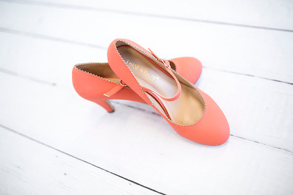Retro Coral High Heel