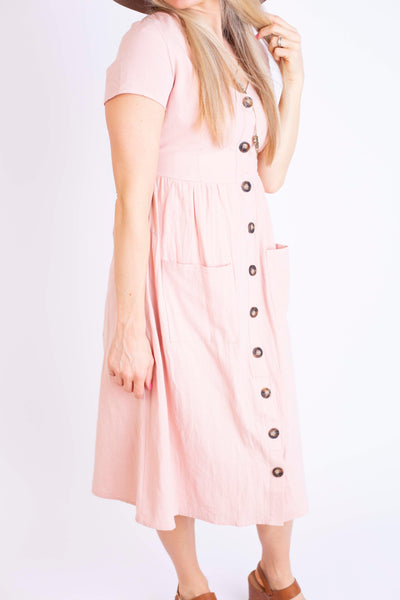 19.02.28C Pink Blossom Button Dress