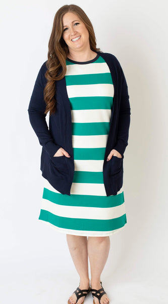 19.04.02C Spectra Green Striped Day Dress