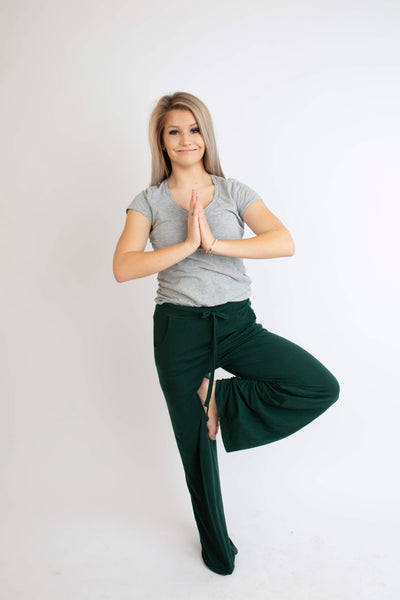 19.01.10G Green Lounge Pant- Curvy