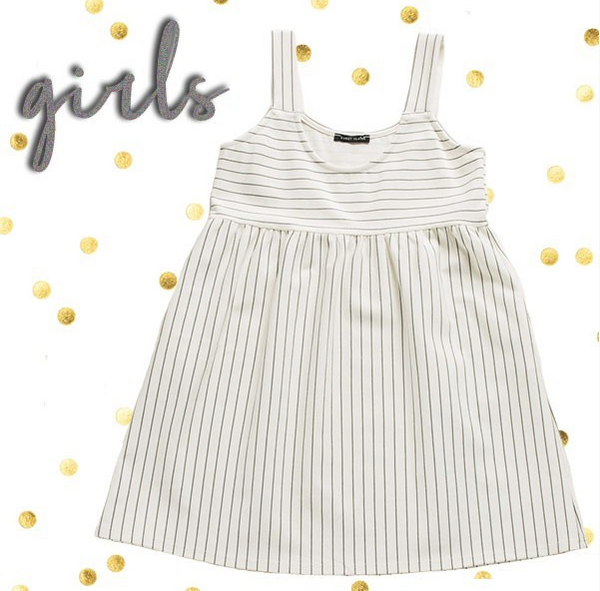 18.12.11D Girls' Bib Pocket Dress