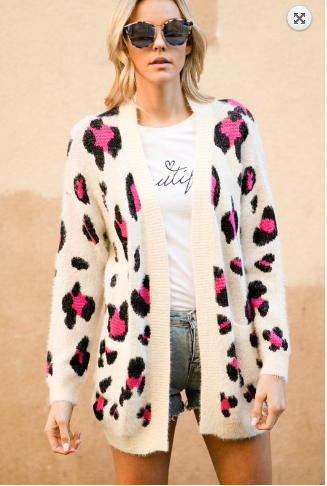 Harley Animal Print Cardigan 20.01.14