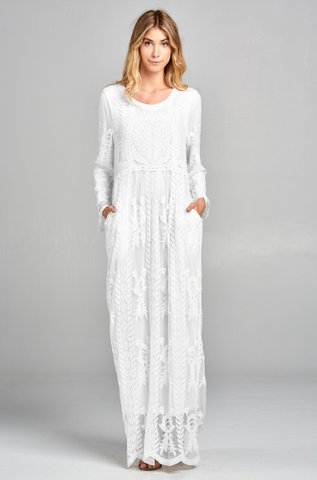 Adaline White Lace Dress 20.01.24