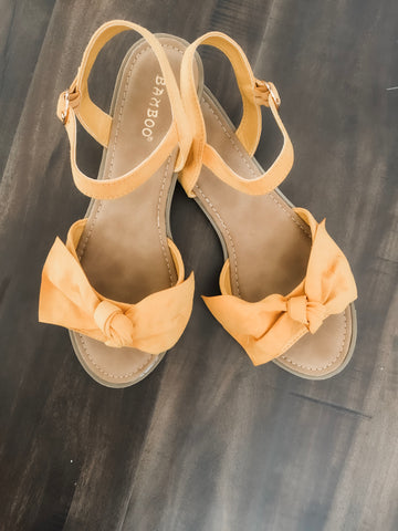 Christy Marigold Bow Sandal 19.07.18G