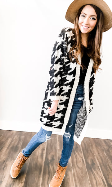 Houndstooth Open Cardigan 19.12.10E