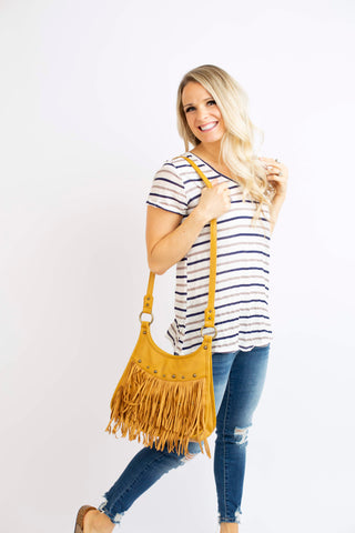 19.02.21A Striped Navy and Taupe Tee