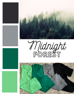 4 Plain Tee Set-Midnight Forest -MA Tees