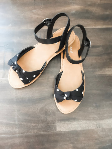Maisy Black and White Polka Dot Sandal 19.06.27G
