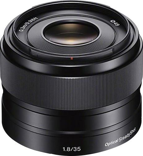 Sony - 35mm f/1.8 Prime Lens for Most NEX E-Mount Cameras - Black Model:SEL35F18