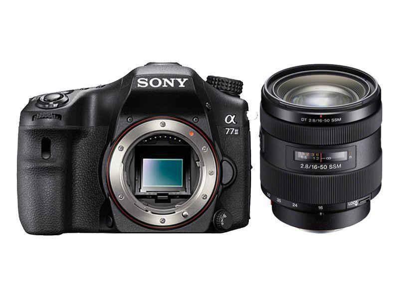 Sony - Alpha a77 II DSLR Camera with 16-50mm Lens - Black Model: ILCA77M2Q