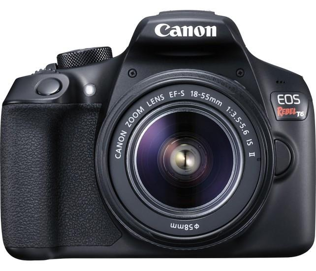 Canon - EOS Rebel T6 DSLR Camera with EF-S 18-55mm f/3.5-5.6 IS II Lens Model: 1159C003