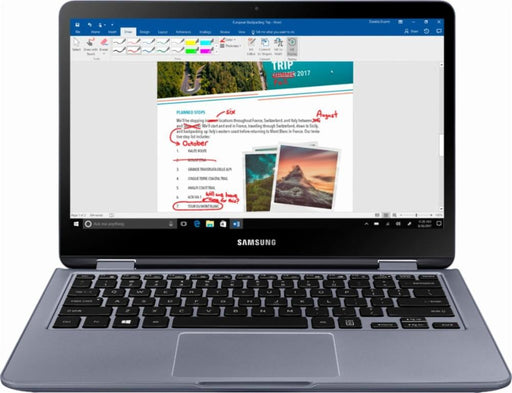 "Samsung - Notebook 7 Spin 2-in-1 13.3"" Touch-Screen Laptop - Intel Core i5 - 8GB Memory - 512GB Solid State Drive - Stealth Silver Model:NP730QAA-K02US"