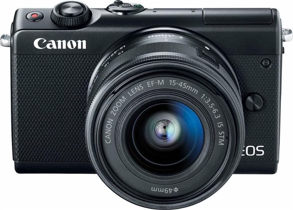Canon - EOS M100 Mirrorless Camera with EF-M 15-45mm IS STM Zoom Lens - Black