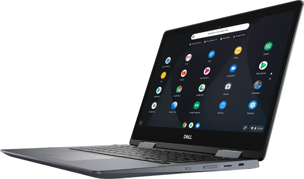 "Dell - Inspiron 2-in-1 14"" Touch-Screen Chromebook - Intel Core i3 - 4GB Memory - 128GB eMMC Flash Memory - Urban Gray Model:C7486-3250GRY-PUS"