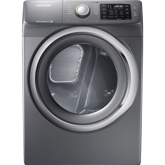 Samsung - 7.5 Cu. Ft. 11-Cycle Electric Dryer with Steam - Platinum Model: DV42H5200EP