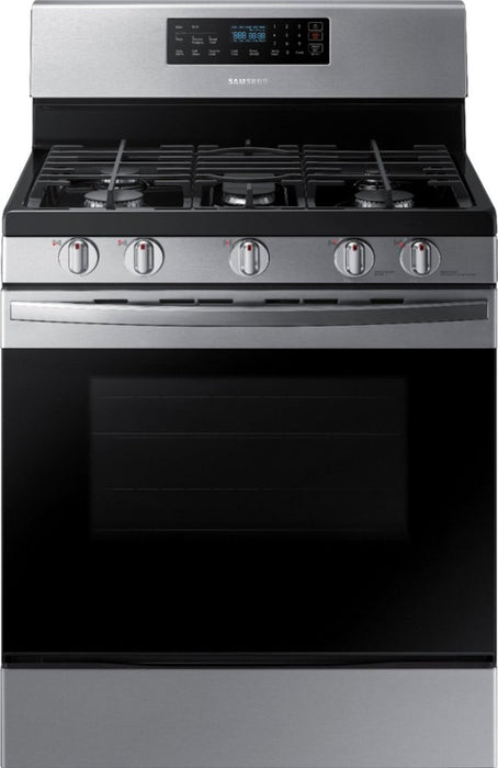 Samsung - 5.8 Cu. Ft. Self-Cleaning Freestanding Gas Range - Stainless steel Model:NX58R4311SS/AA