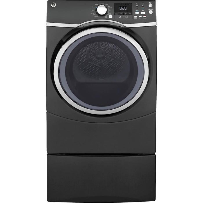 GE - 7.5 Cu. Ft. 13-Cycle Electric Dryer with Steam - Diamond Gray Model:GFD45ESPMDG