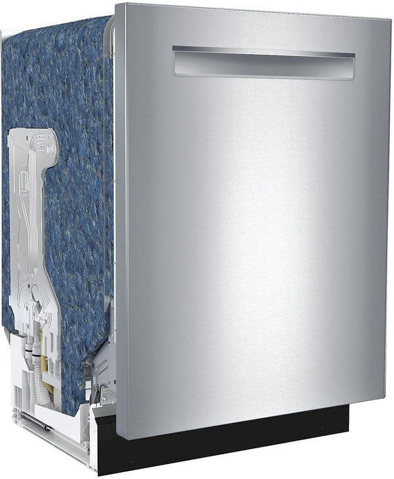 "Bosch - 300 Series 24"" Scoop Handle Dishwasher with Stainless Steel Tub - Stainless steel Model:SHSM63W55N"