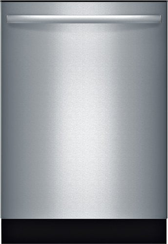 "Bosch - 100 Series 24"" Tall Tub Built-In Dishwasher with Stainless-Steel Tub - Stainless steel Model:SHX3AR75UC"