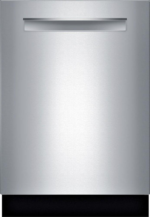 "Bosch - 800 Series 24"" Pocket Handle Dishwasher with Stainless Steel Tub - Stainless steel"