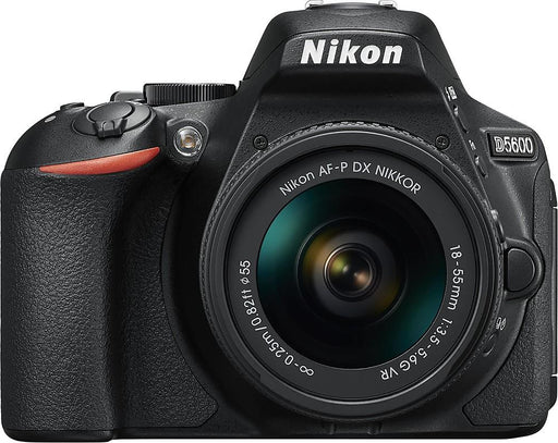 Nikon - D5600 DSLR Camera with AF-P DX NIKKOR 18-55mm f/3.5-5.6G VR Lens - Black Model:1576