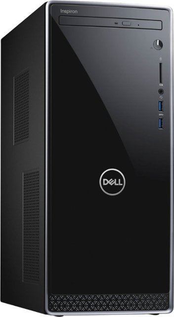 Dell - Inspiron Desktop - Intel Core i5 - 12GB Memory - 256GB Solid State Drive - Black With Silver Trim Model:I3670-5790BLK-PUS