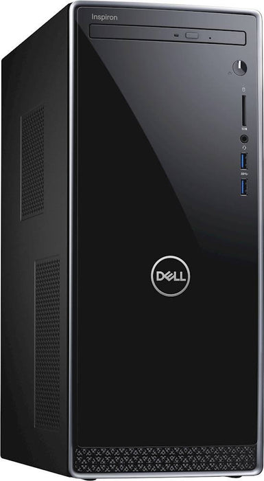 Dell - Inspiron Desktop - Intel Core i7 - 8GB Memory - 16GB SSD + 1TB HDD - Black With Silver Trim Model:I3671-7350BLK-PUS