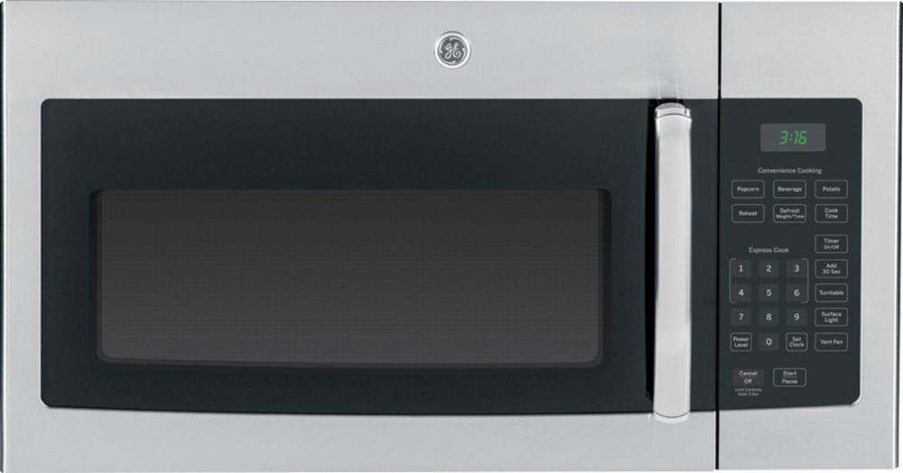 GE - 1.6 Cu. Ft. Over-the-Range Microwave - Stainless steel Model:JVM3160RFSS