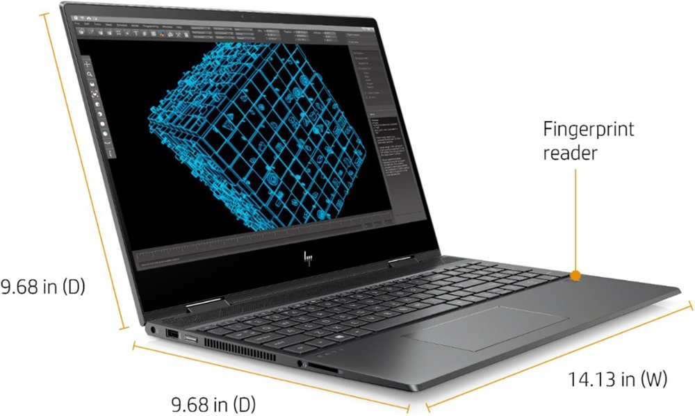 "HP - ENVY x360 2-in-1 15.6"" Touch-Screen Laptop - AMD Ryzen 5 - 8GB Memory - 256GB Solid State Drive - Sandblasted Anodized Finish, Nightfall Black Model:15M-DS0011DX"