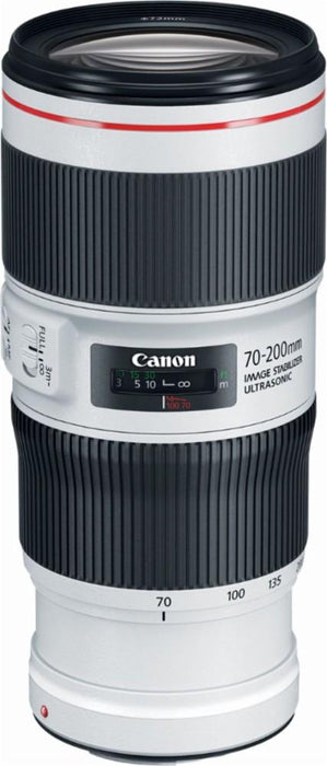 Canon - EF 70-200mm f/4.0 L IS II USM Optical Telephoto Zoom Lens for EOS 100 - White/Black Model:2309C002