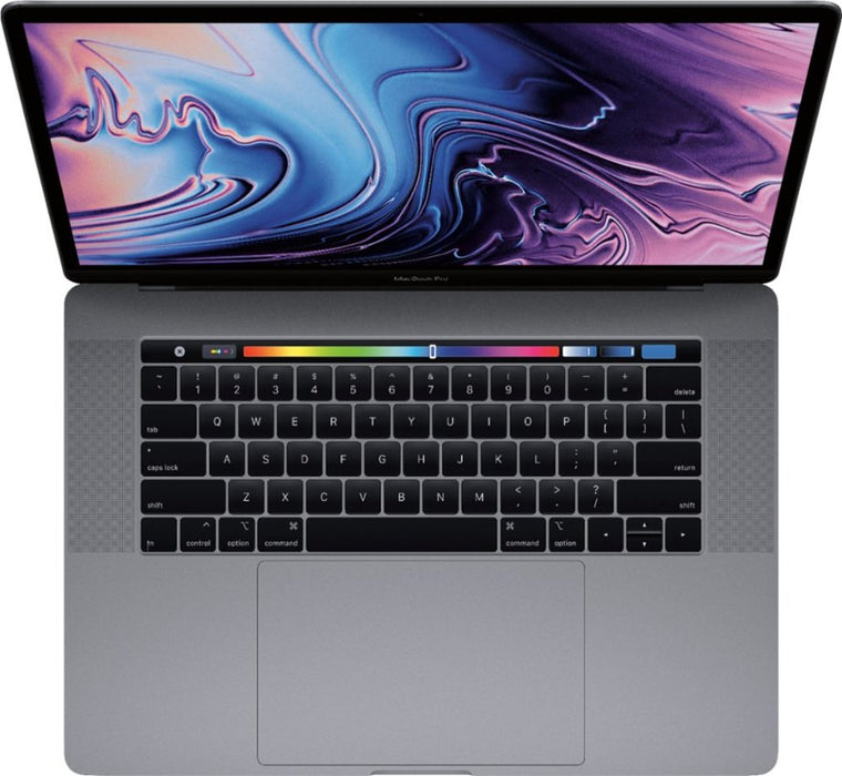 "Apple - MacBook Pro 15.4"" Display with Touch Bar - Intel Core i7 - 16GB Memory - AMD Radeon Pro 555X - 256GB SSD - Silver Model: MV922LL/A"