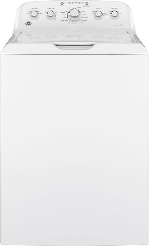 GE - 4.2 Cu. Ft. 14-Cycle Top-Loading Washer - White On White
