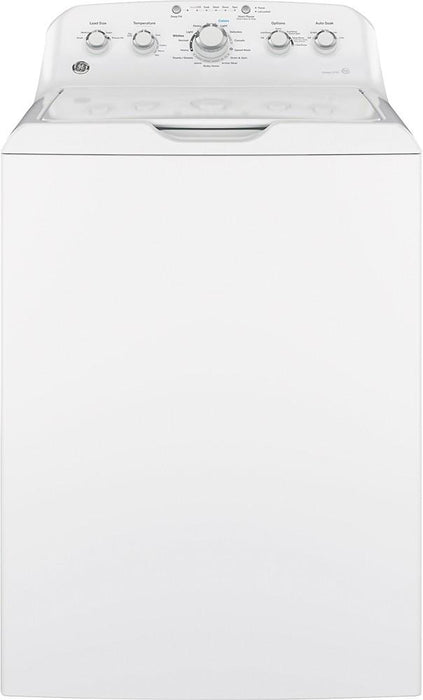 GE - 4.5 Cu. Ft. 14-Cycle Top-Loading Washer - White On White Model:GTW465ASNWW