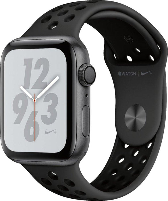 Apple - Apple Watch Nike+ Series 4 (GPS + Cellular), 40mm Space Gray Aluminum Case with Anthracite/Black Nike Sport Band - Space Gray Aluminum