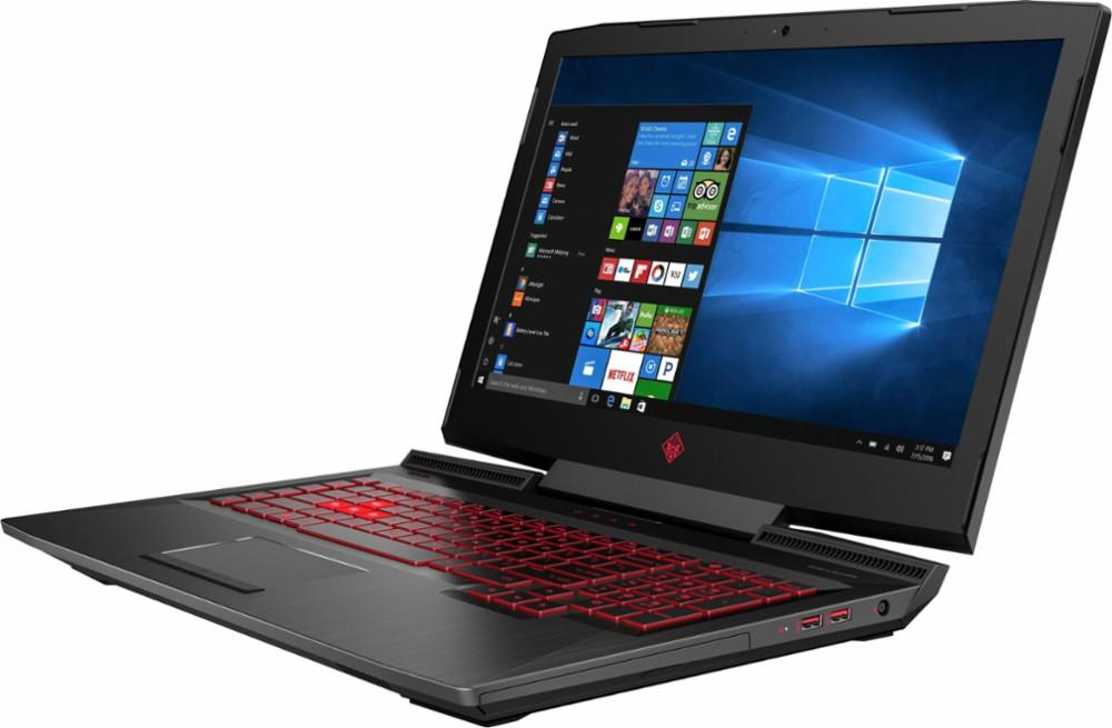 "HP - OMEN by HP 17.3"" Gaming Laptop - Intel Core i7 - 16GB Memory - NVIDIA GeForce RTX 2060 - 512GB Solid State Drive - Shadow Black, Sandblasted Hairline Finish Model:17-CB0070NR"