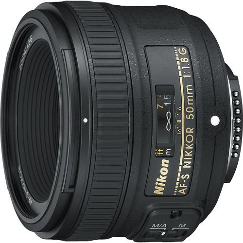 Nikon - AF-S NIKKOR 50mm f/1.8G Standard Lens - Black Model:2199