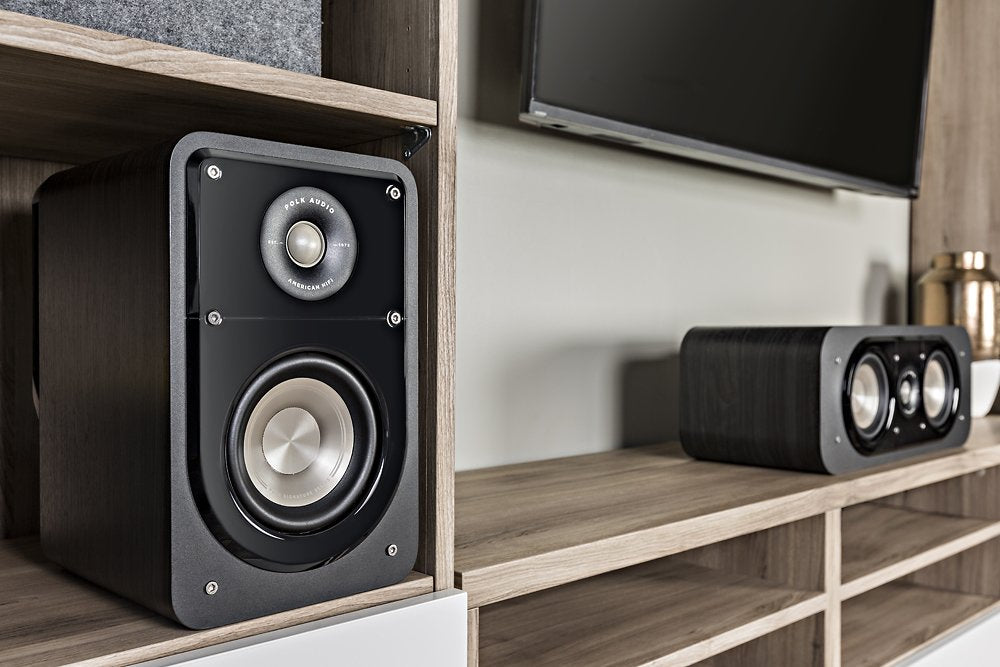 Polk Audio - Signature Passive 2-Way Bookshelf Speaker (Pair) - Black Washed Walnut Model:POLK SIGNATURE S15