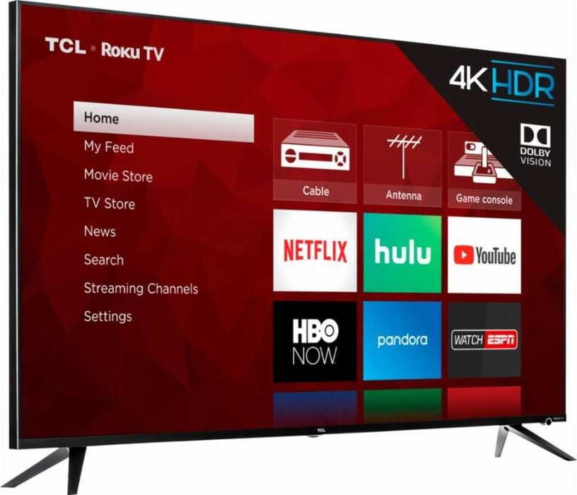 "TCL - 65"" Class - LED - 6 Series - 2160p - Smart - 4K UHD TV with HDR Roku TV Model:65R615"
