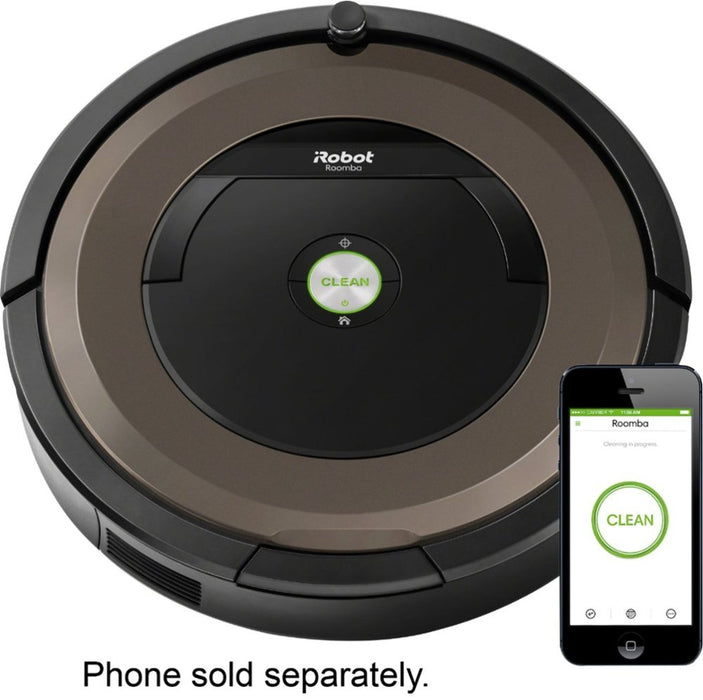 iRobot - Roomba 890 App-Controlled Self-Charging Robot Vacuum with Dual Mode Virtual Wall Barrier - Black/brown Model:R890020