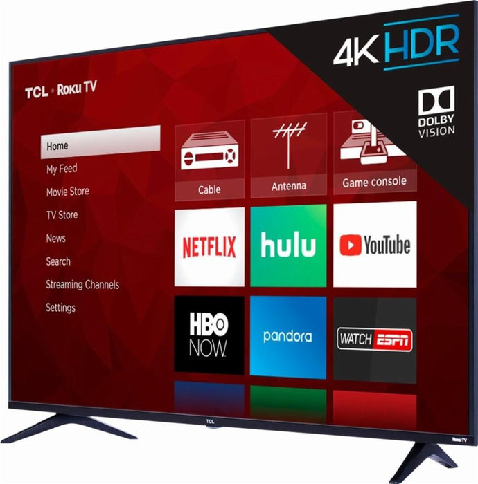 "TCL - 55"" Class (54.6"" Diag.) - LED - 2160p - Smart - 4K Ultra HD TV with HDR Roku TV"