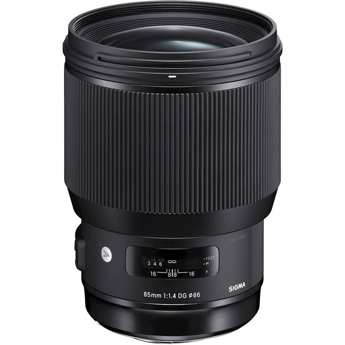 Sigma - Art 85mm F1.4 DG HSM | A Standard Zoom Lens for Canon DSLRs - Black Model:321954