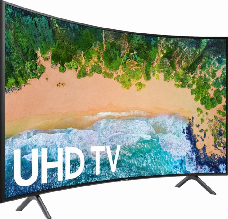 "Samsung - 55"" Class - LED - NU7300 Series - Curved - 2160p - Smart - 4K UHD TV with HDR Model:UN55NU7300FXZA"