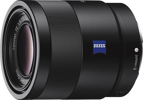 Sony - Sonnar T FE 55mm f/1.8 ZA Lens for Most Sony a7-Series Cameras - Black Model:SEL55F18Z