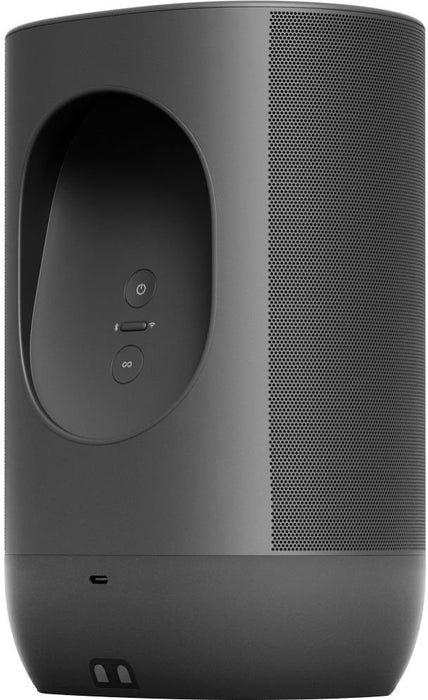 Sonos - Move Smart Portable Wi-Fi and Bluetooth Speaker with Alexa and Google Assistant - Black Model:MOVE1US1BLK