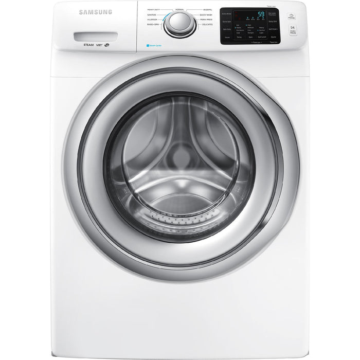 Samsung - 4.2 Cu. Ft. 9-Cycle High-Efficiency Steam Front-Loading Washer - White Model: WF42H5200AW