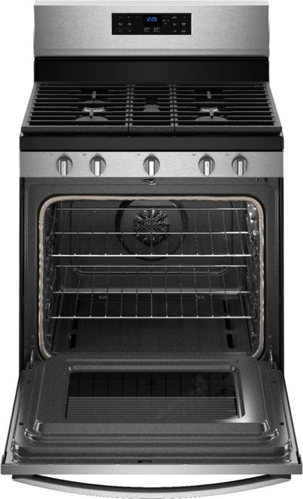 Whirlpool - 5.0 Cu. Ft. Self-Cleaning Freestanding Gas Convection Range - Stainless steel Model:WFG550S0HZ