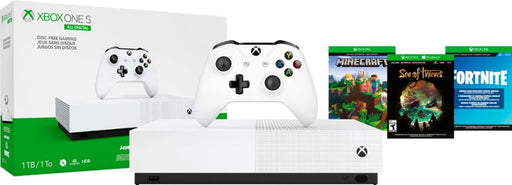 Microsoft - Xbox One S 1TB All-Digital Edition Console (Disc-free Gaming) - White Model:NJP-00050