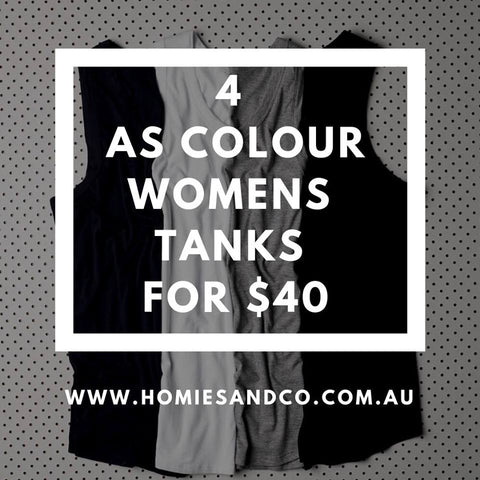 AS COLOUR WOMENS TANKS BUNDLES